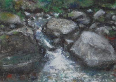 Urnäsch | Pigmente und Sand auf Leinwand | 54x66 cm | verkauft
