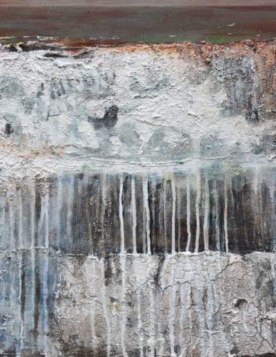Wasserwelten | Mischtechnik auf Holz | 50 x 50 cm