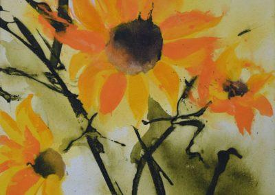 Sonnenblumen | Acryl auf Leinwand | 40 x 40 cm