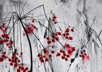 Kerbel rot | Acryl auf Leinwand | 100 x 50 cm