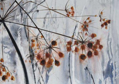Kerbel im Herbst | Acryl auf Leinwand | 120 x 40 cm