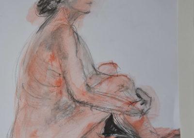 Akt weiblich sitzend
