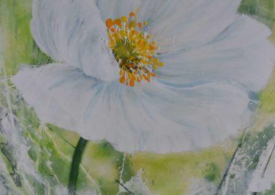 Herbstanemone | Acryl auf Leinwand | 80x60 cm