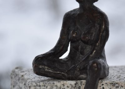 Frau sitzend | Bronze | Unikat | ca. 12cm hoch