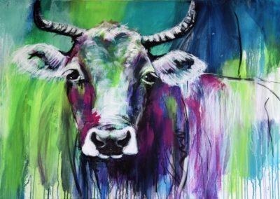 Kuh Lila | Acryl auf Leinwand | 90 x 70 cm