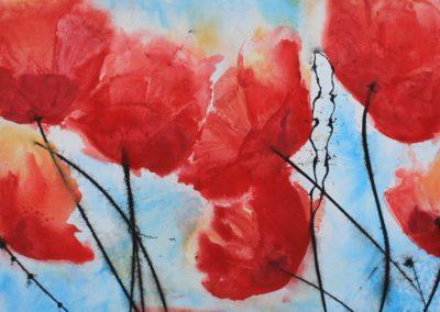 Mohn | Acryl auf Leinwand | 90 x 70 cm