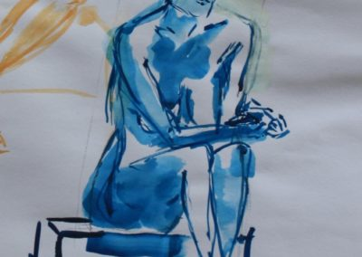 blauer Akt weiblich