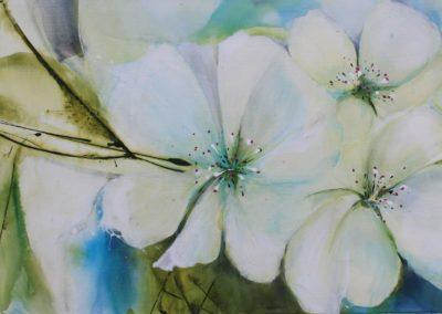 Kirschblüten | Acryl auf Leinwand | 100 x 50 cm