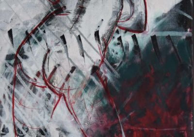 """Wave"", weisser Akt |  Acryl auf Leinwand | 100x50cm"
