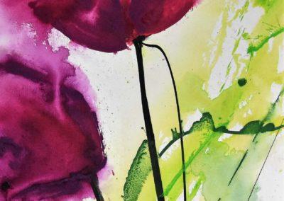 Tulpen | 40x80cm | Acryl auf Leinwand | verkauft
