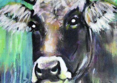 Rätisches Grauvieh | Acryl auf Leinwand | 50x70cm | verkauft
