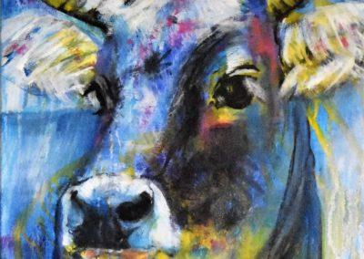 Blaues Grauvieh | Acryl auf Leinwand | 40x50cm | verkauft