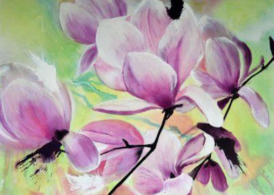 Magnolien | Acryl auf Leinwand |  70x90cm