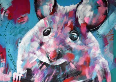 Maus | Acryl auf Leinwand | 80x100cm