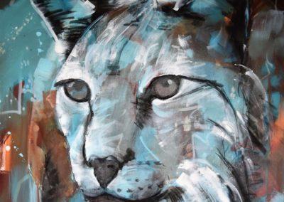 Luchs | Acryl auf Leinwand | 80x80cm