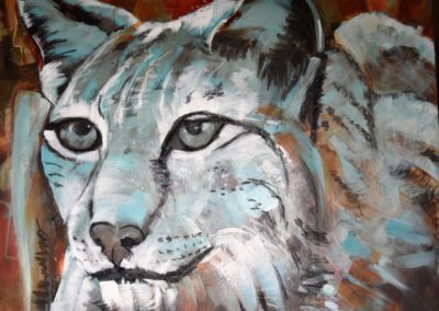 Luchs | Acryl auf Leinwand | 80x100cm