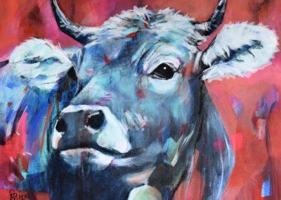 """Vacca in Rosso"" | Acryl auf Leinwand | 60x80cm"